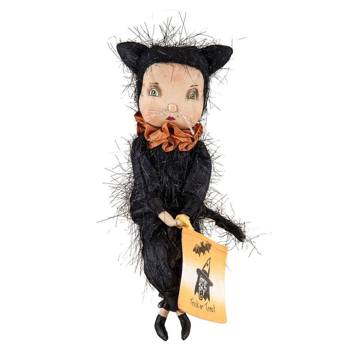 Adeline Cat Halloween Figure by Joe Spencer of Gathered Traditions