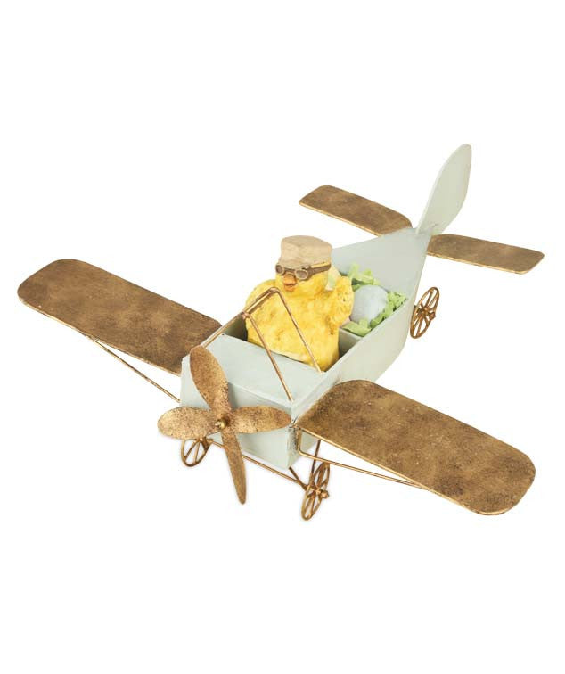 Amelia Egghart Easter Chick in Plane by Bethany Lowe