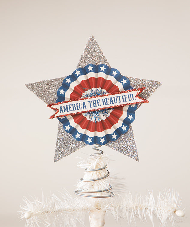 America The Beautiful Star Tree Topper