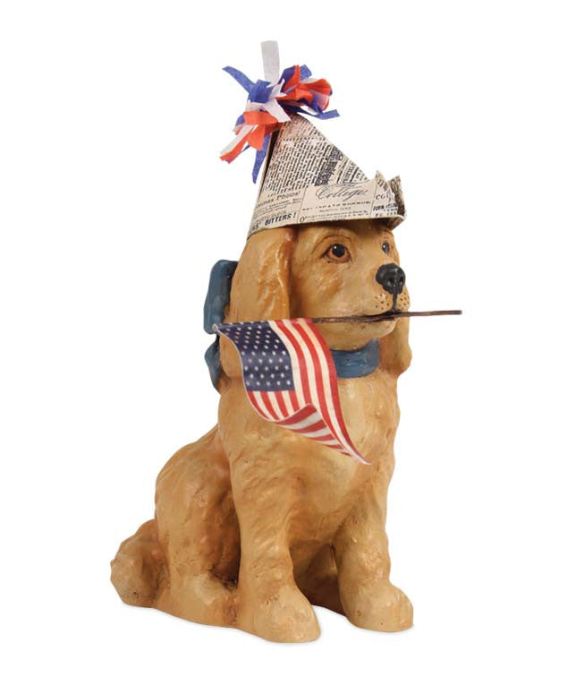 Americana Puppy Dog Figurine by Bethany Lowe