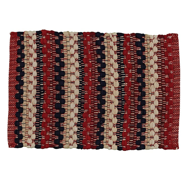 Americana Rag Weave Placements, Set of 2
