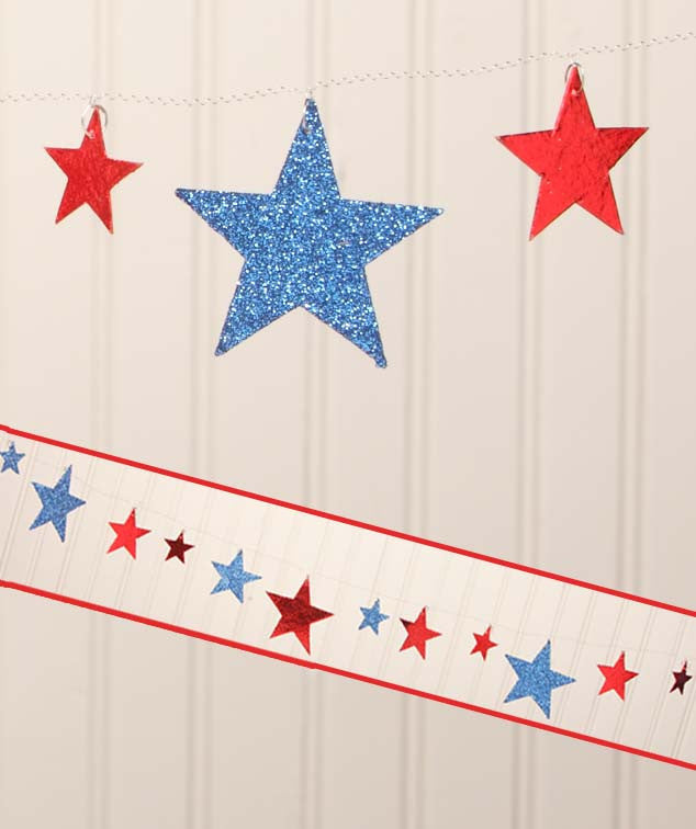 Americana Star Garland - 4th of July Garland