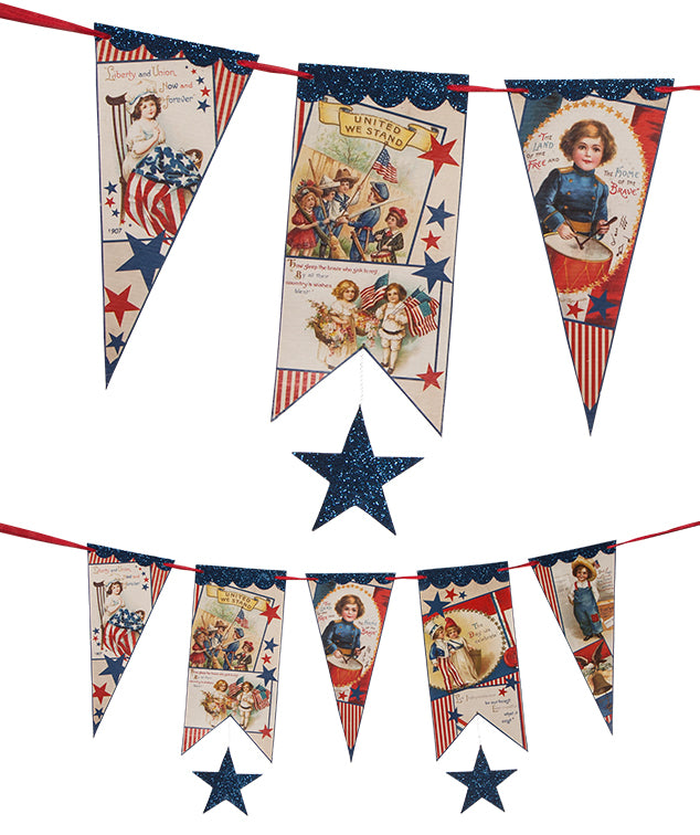 Americana Star Garland by Bethany Lowe with vintage children