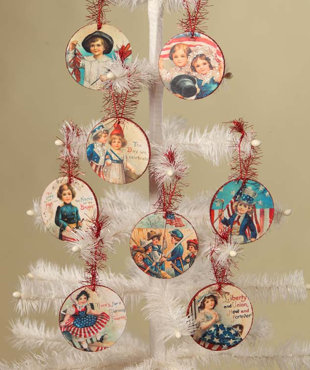 Americana Disc Ornaments - Bethany Lowe 4th of July Decorations
