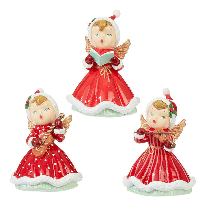 Retro Caroling Angels