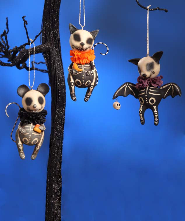 Skelly Animal Ornaments