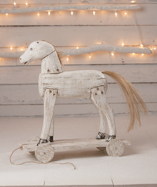Holiday Spirit Horse, Antique Reproduction of Wooden Toy