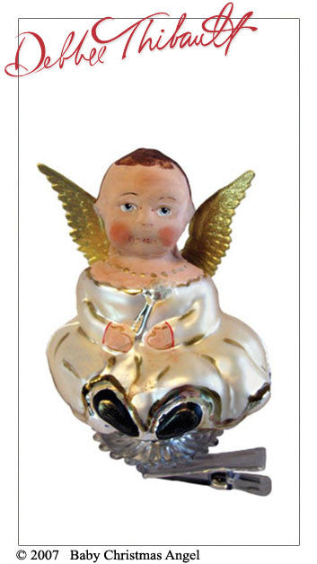 Baby Christmas Angel Glass - Debbee Thibault