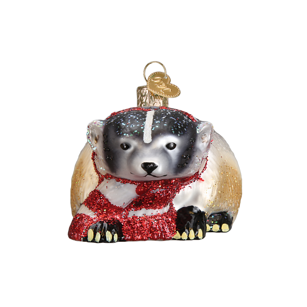 Badger Ornament by Old World Christmas