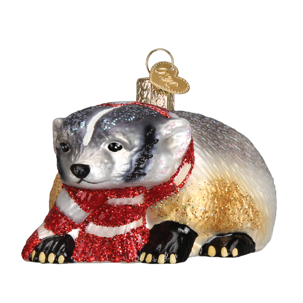 Badger Christmas Ornament