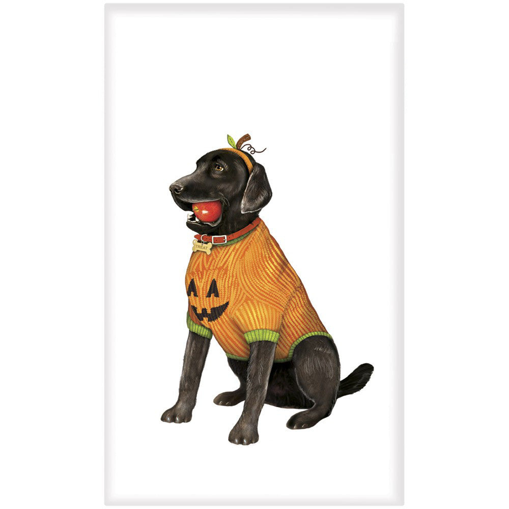 Black Lab in Halloween Costume Towel