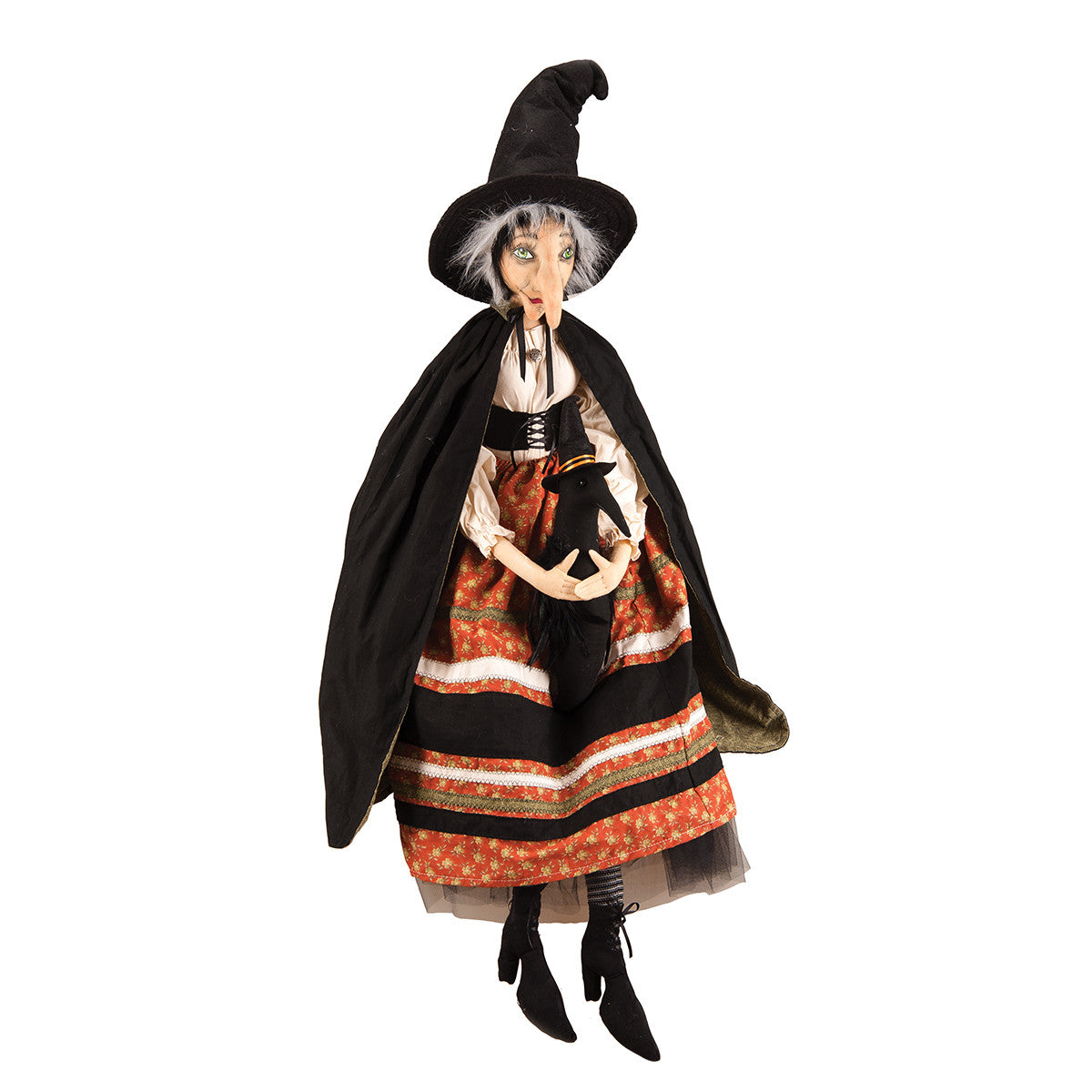 Batilda Witch with Crow - Joe Spencer Halloween Doll