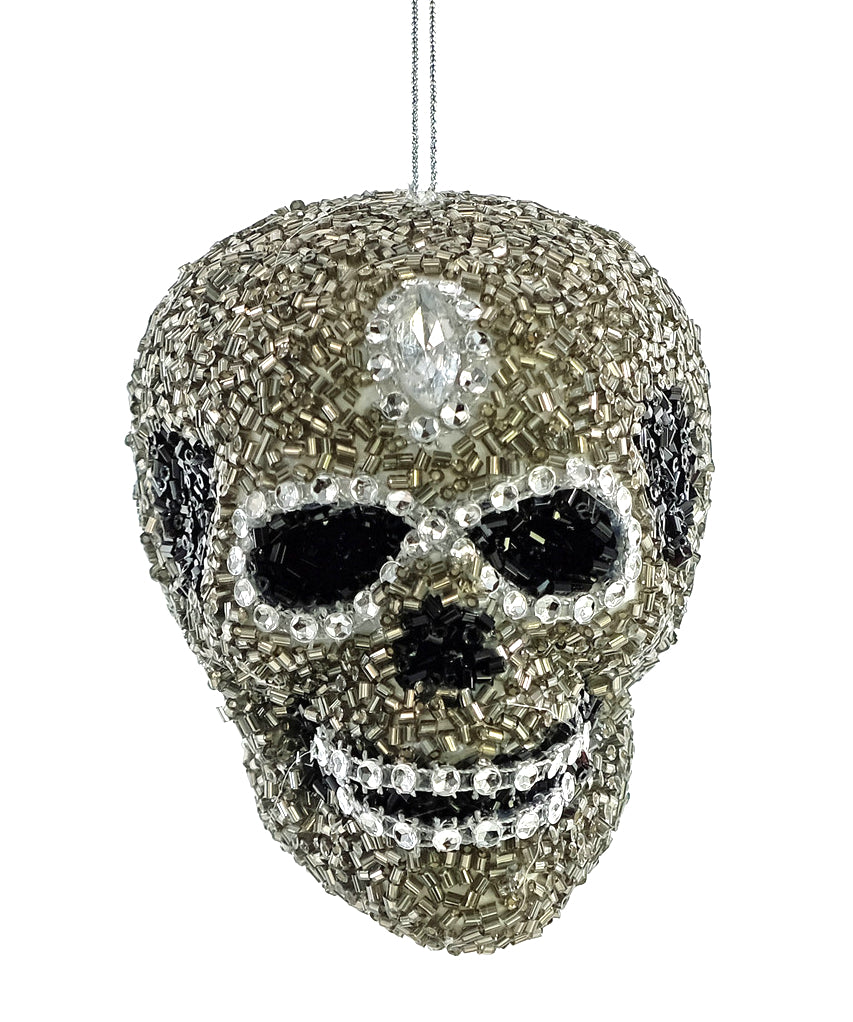 Beaded Skull Ornament by Katherine's Collection