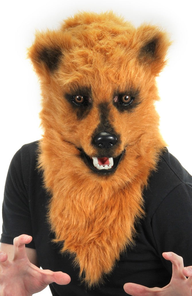 Brown Bear Mouth Mover Mask - Halloween Costume