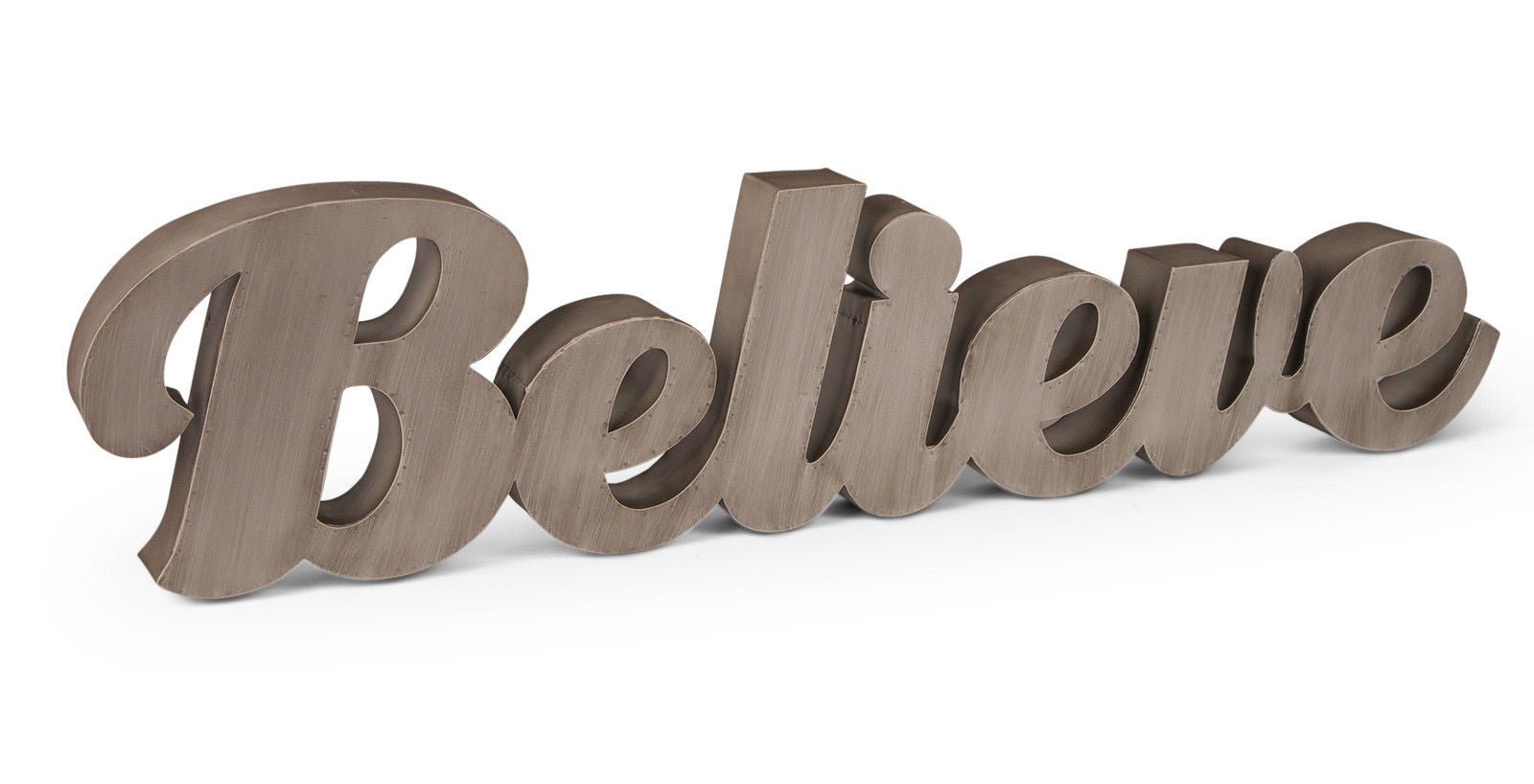 Believe Metal Word Sign - Large