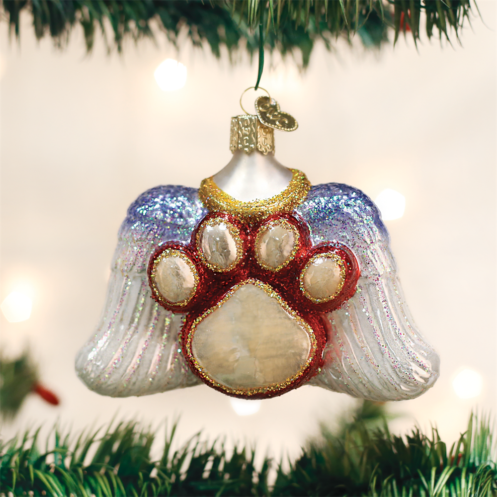 Beloved Pet Ornament with Angel Wings & Paw Print