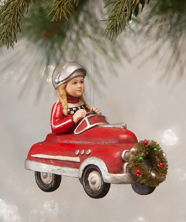 Bethany Lowe Casey In Car Ornament - Christmas 2018
