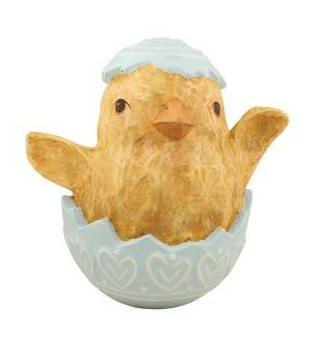 Large Chick in Easter Egg - Paper Mache