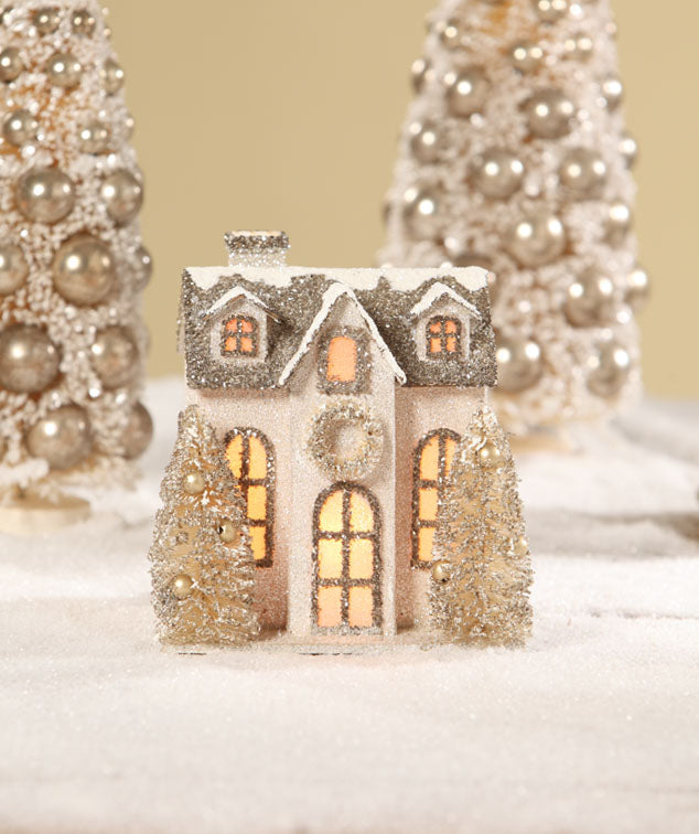 Bethany Lowe Christmas Glitter Putz House - The Country House