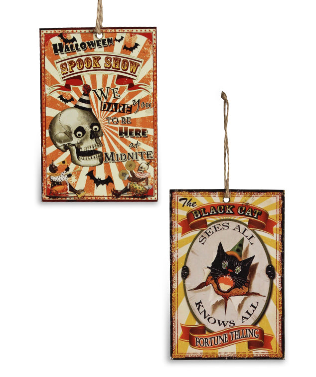 Bethany Lowe Halloween Big Top Tin Ornaments