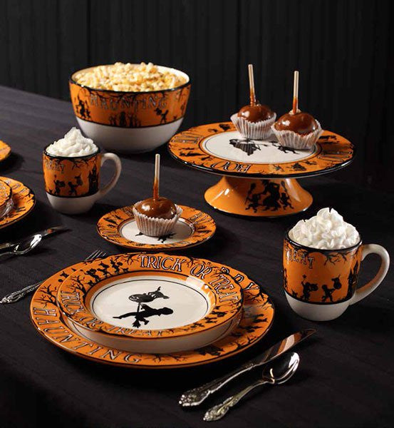 Bethany Lowe Happy Haunting Dinnerware - Vintage Style Halloween Dishes