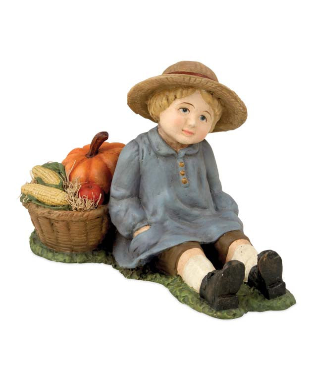 Bethany Lowe Harvest Boy - Thanksgiving Figurine
