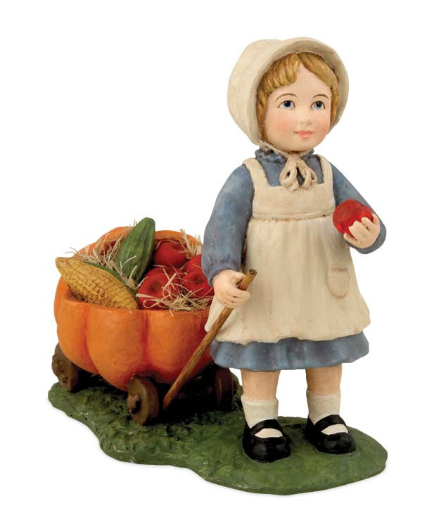 Bethany Lowe Harvest Girl | Thanksgiving Figurine