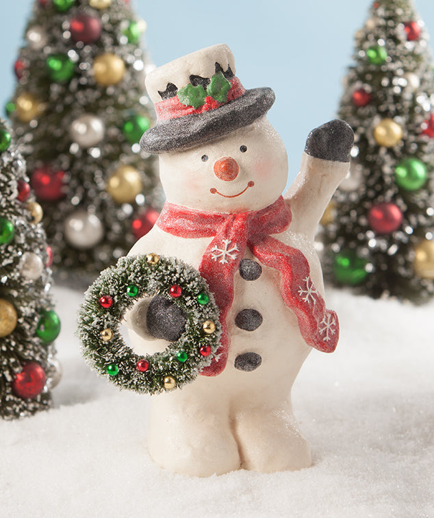 Jolly Greeting Snowman by Bethany Lowe