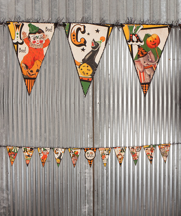 Litttle Big Top Halloween Garland - Circus Theme