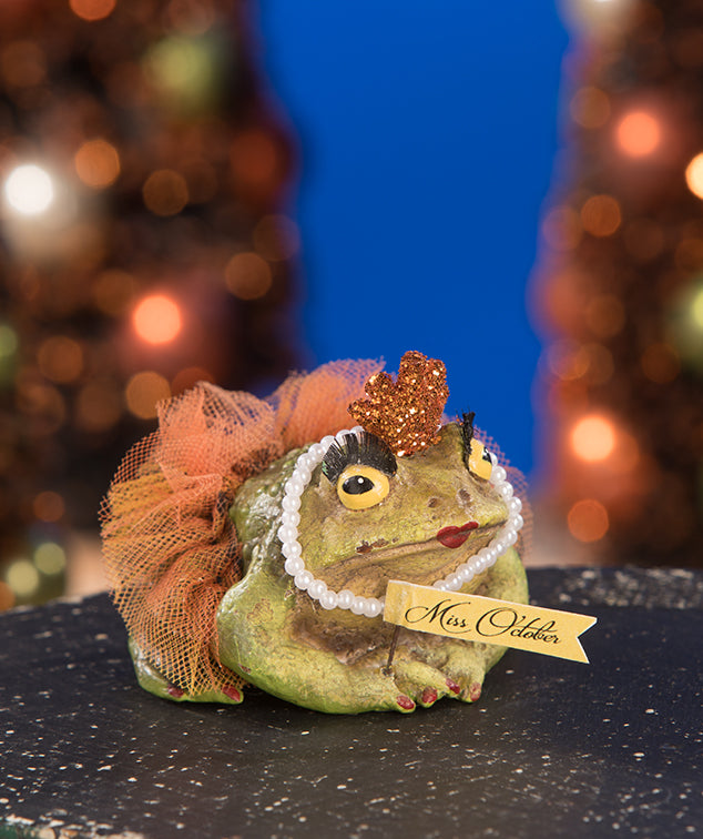 Miss October Frog Figurine by Bethany Lowe