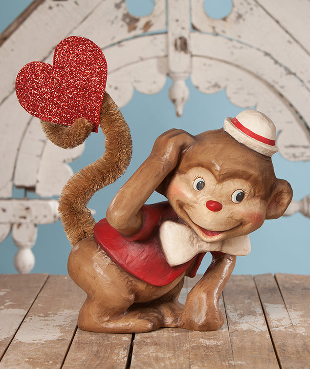 Bethany Lowe Monkey Love - Large Paper Mache Figure