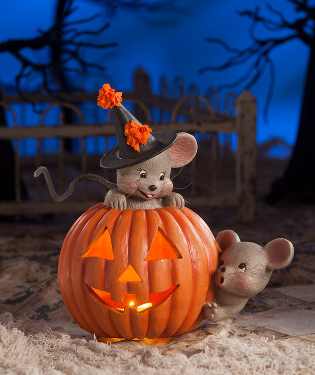 Bethany Lowe Mouse House in Pumpkin - Halloween 2018