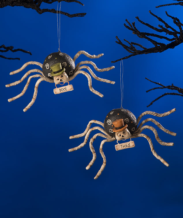 Mr. Bones Spider Ornaments by Bethany Lowe
