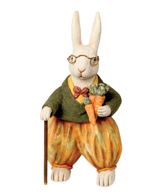 Bethany Lowe Mr. Carrots Rabbit Figurine