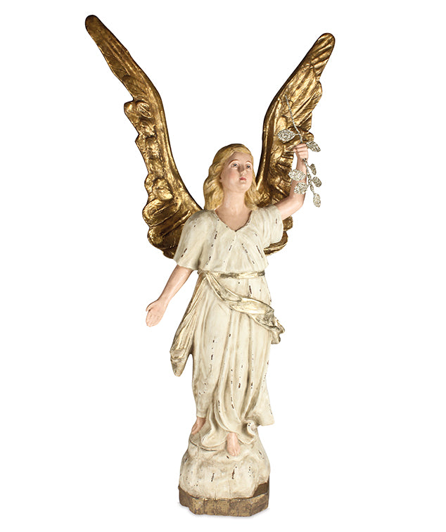 Peaceful Angel with Gold Wings