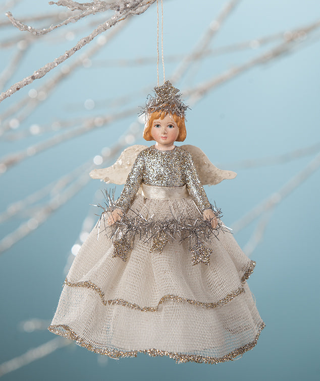 Bethany Lowe Platinum Storybook Angel Ornament Paper Cone Doll Tree Topper