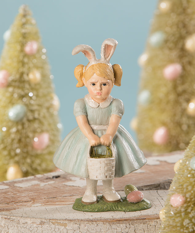 Bethany Lowe Pouting Easter Girl Figurine