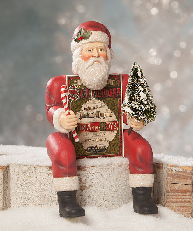 Bethany Lowe Santa Box Body - Vintage Style Christmas Decorations