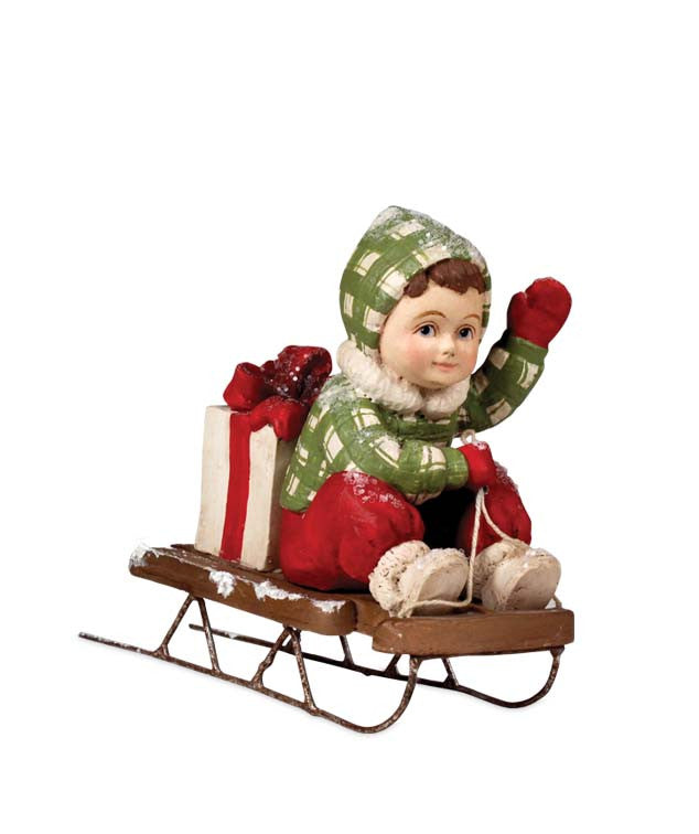 Sledding Sam Figurine by Bethany Lowe