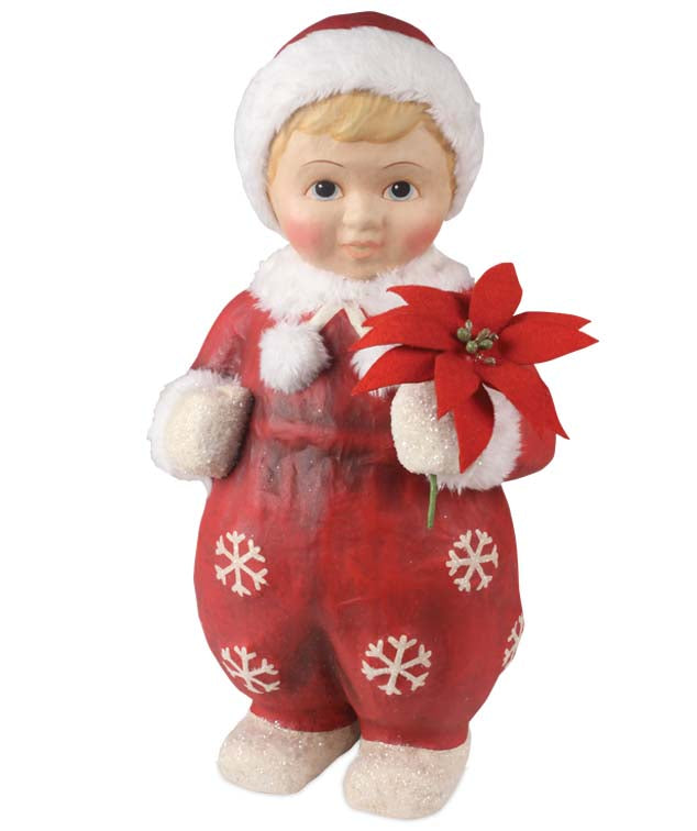 Bethany Lowe Snow Bunny Girl - Large Paper Mache Christmas Figure