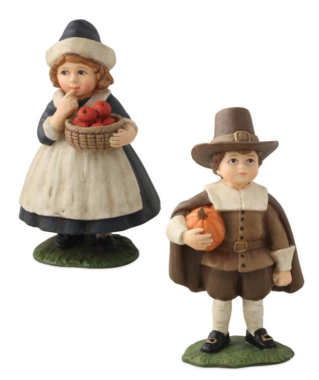 Bethany Lowe Thanksgiving Children Figurines