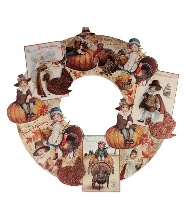 Bethany Lowe Thanksgiving Dummyboard Diecut Wreath