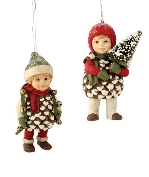 Bethany Lowe Traditional Pinecone Kid Ornaments