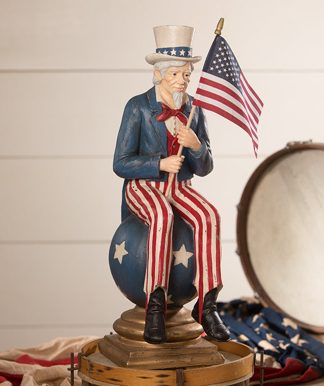 Bethany Lowe Uncle Sam on Pedestal