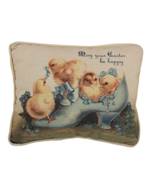 Bethany Lowe Vintage Chicks in Show Pillow