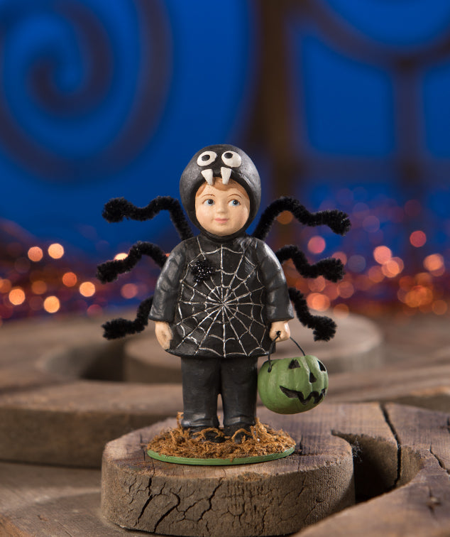 Bethany Lowe Webster Spider Boy in Costume Figurine