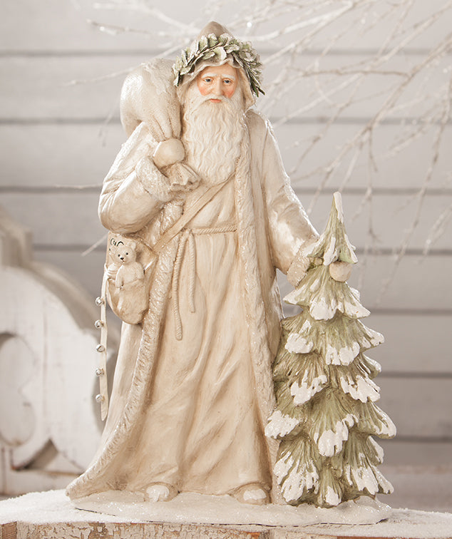 Bethany Lowe Winter White Father Christmas