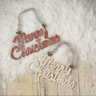 The Holiday Barn Retro Merry Christmas Sign Theholidaybarncom