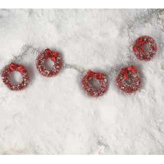 Red Bottle Brush Wreath Garland