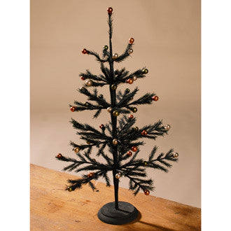 Black Retro Halloween Tree